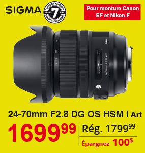 Sigma 24-70mm F2 DG OS HSM