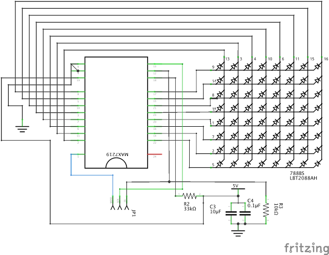 Wiring of LEDs, MAX and Arduino