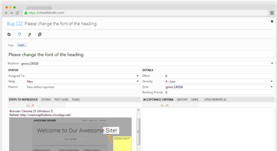 Team foundation server screenshot