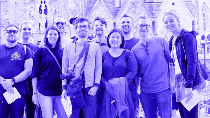 Usersnap team in blue