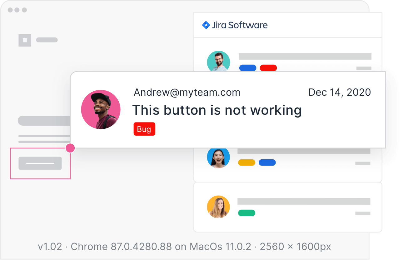 Usersnap feedback widget in different languages