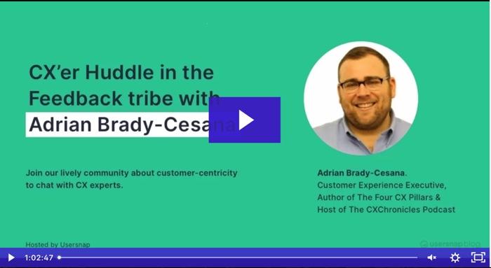 adrian brady - cx expert - webinar