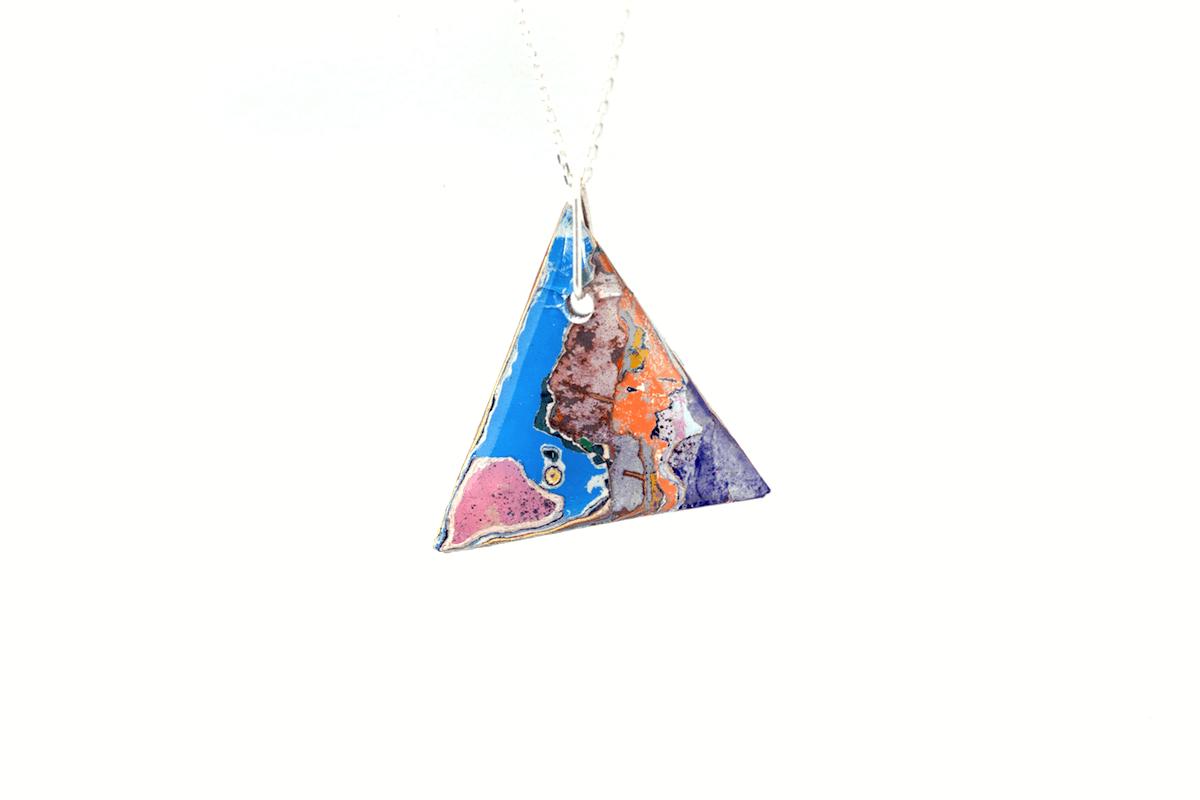 Unique, graffiti pendant necklace