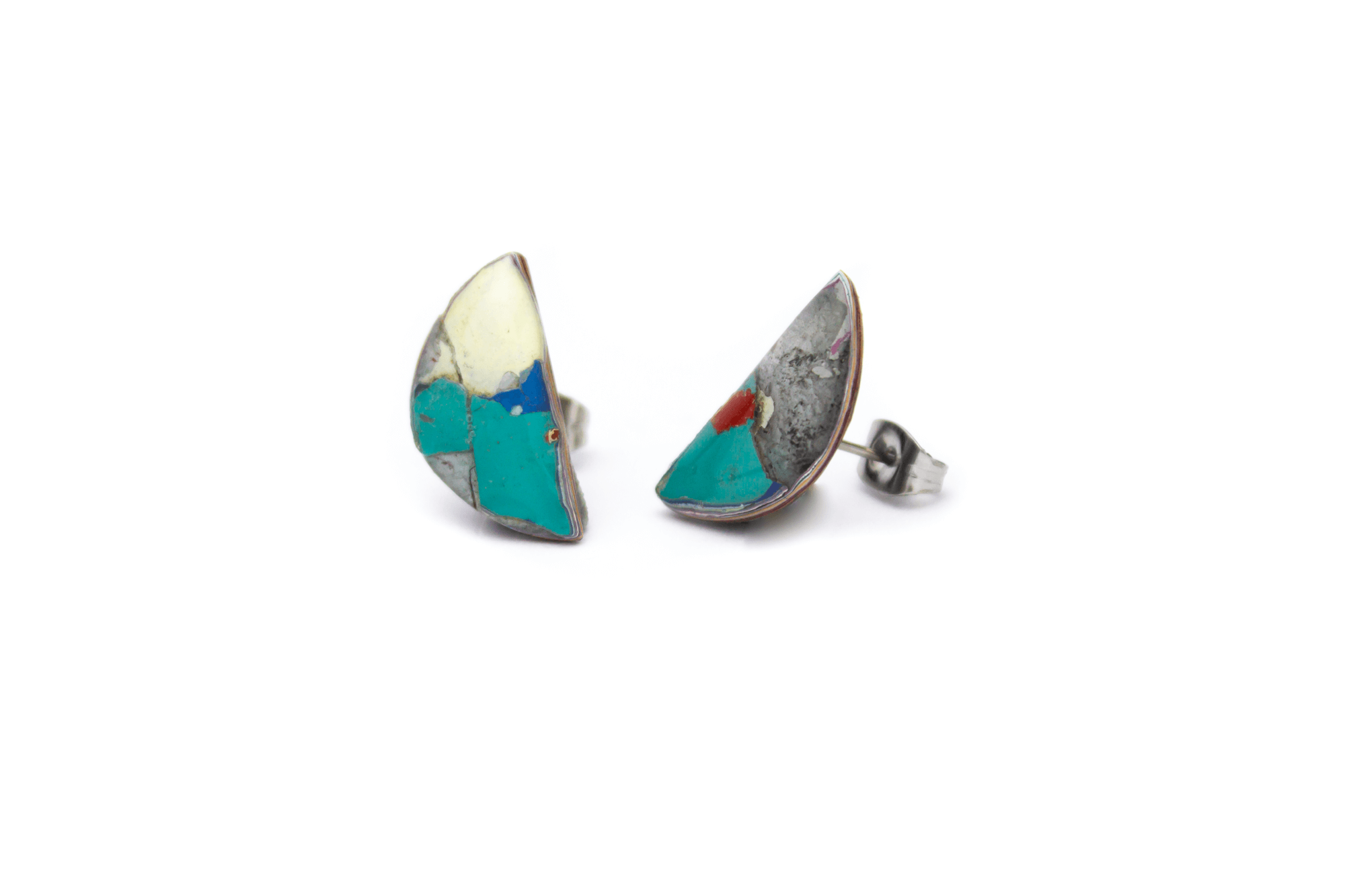 Unique graffiti earrings. One-of-a-kind and handmade in Melbourne from locally sourced, recycled materials.