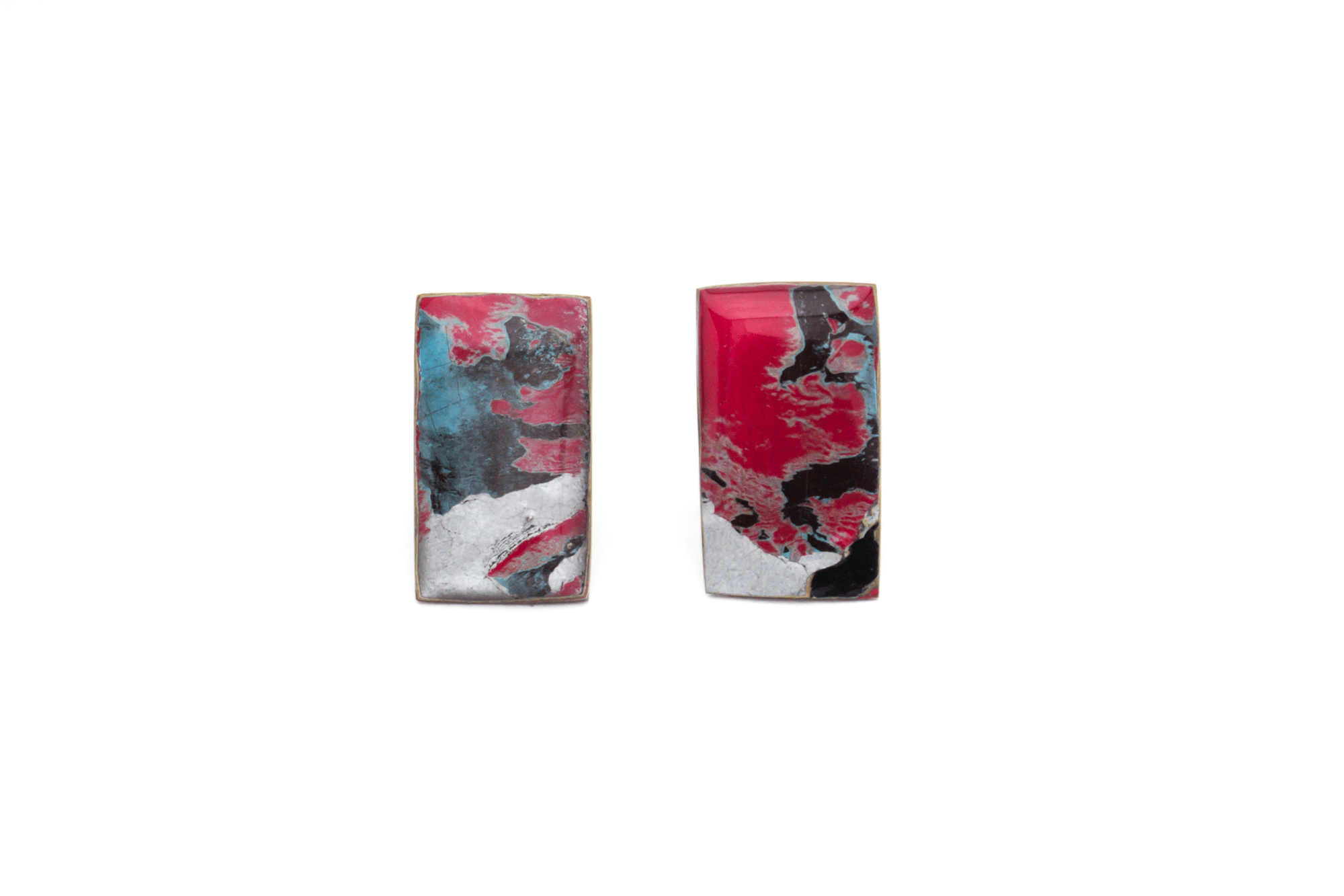 Unique, statement graffiti earrings. Completely one-of-a-kind and handmade in Melbourne from locally sourced, recycled materials.