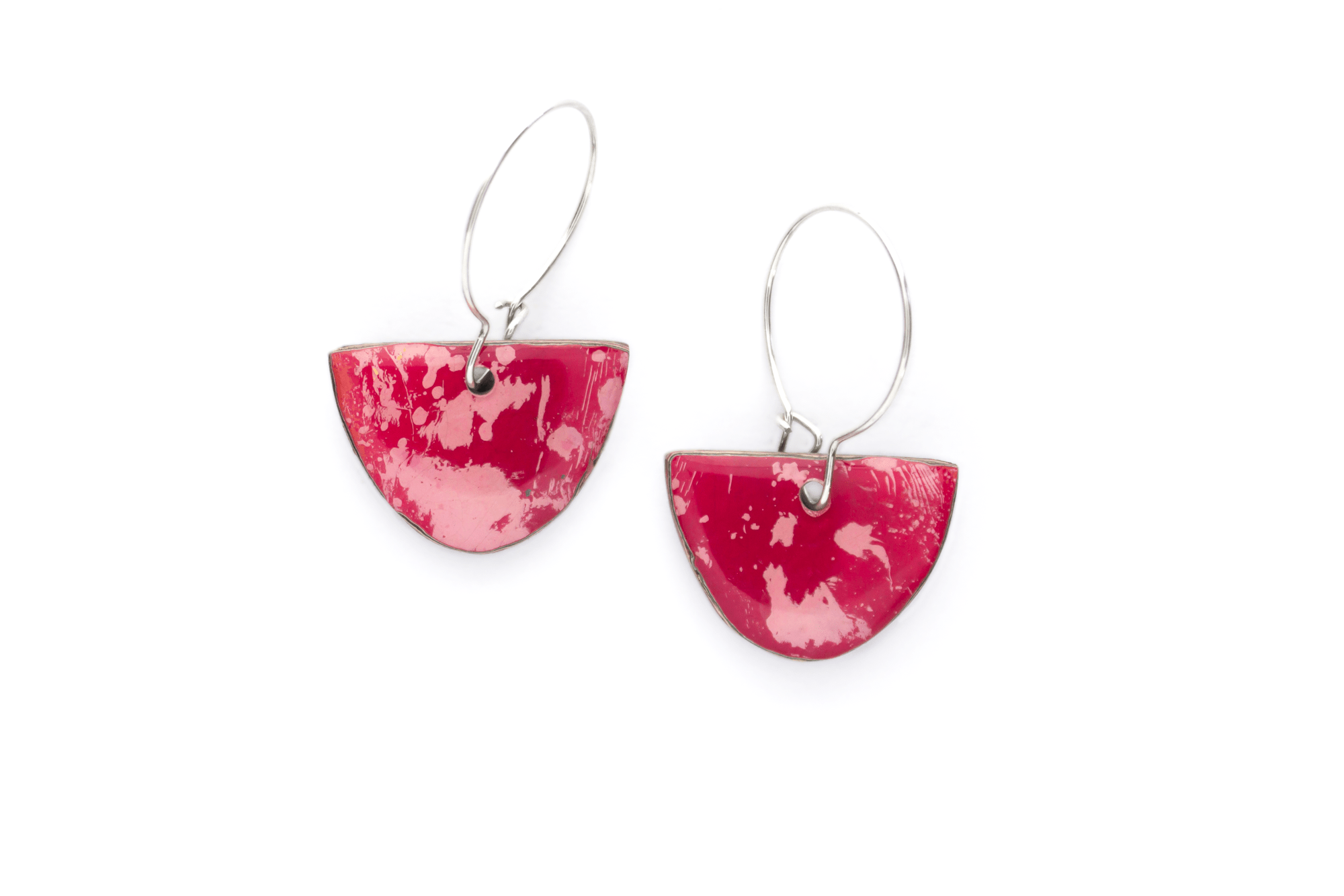 Unique, double-sided graffiti earrings