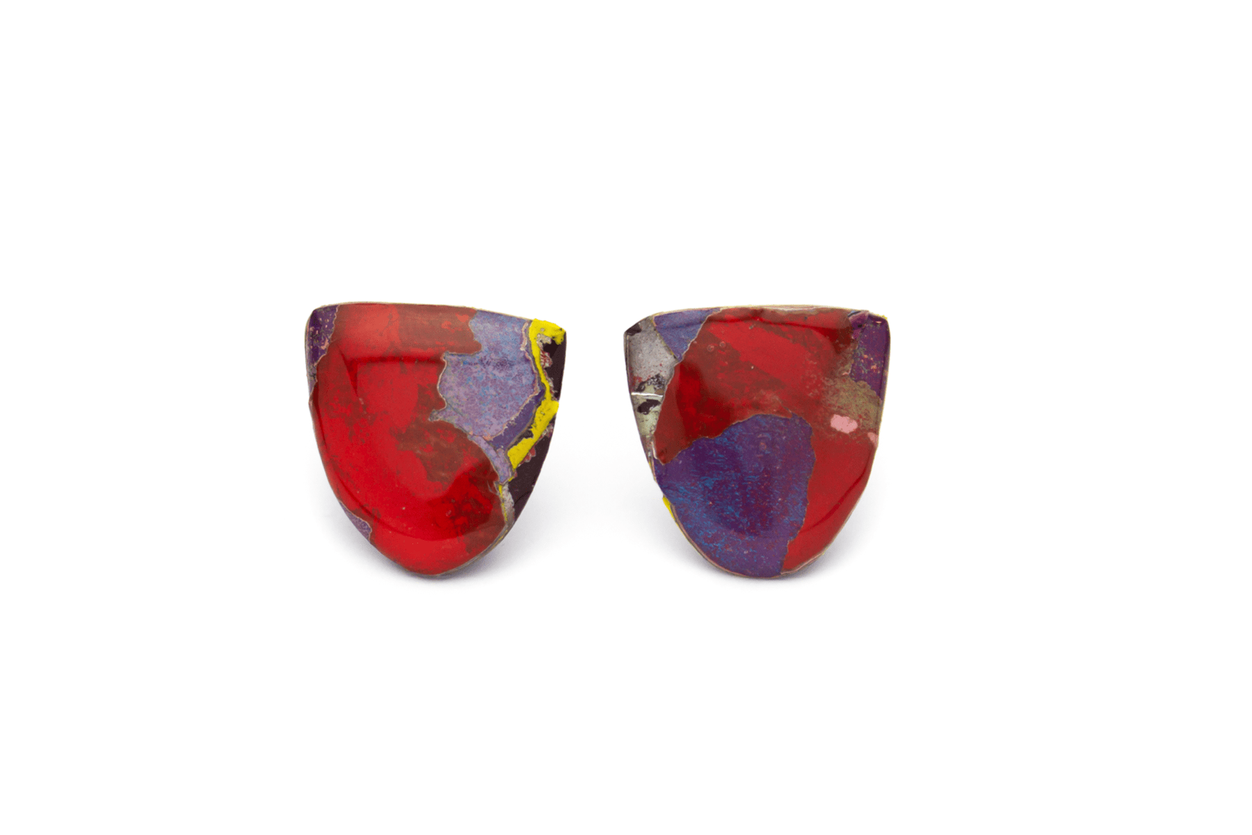 Unique statement graffiti earrings. One-of-a-kind and handmade in Melbourne from locally sourced, recycled materials.