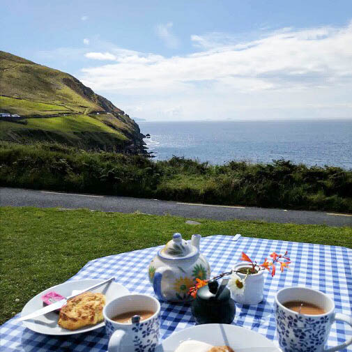 Taking a picnic from Greenhouse House and biking around Slea Head near Dingle, Ireland,  is one of the fun things to do on a sunny day