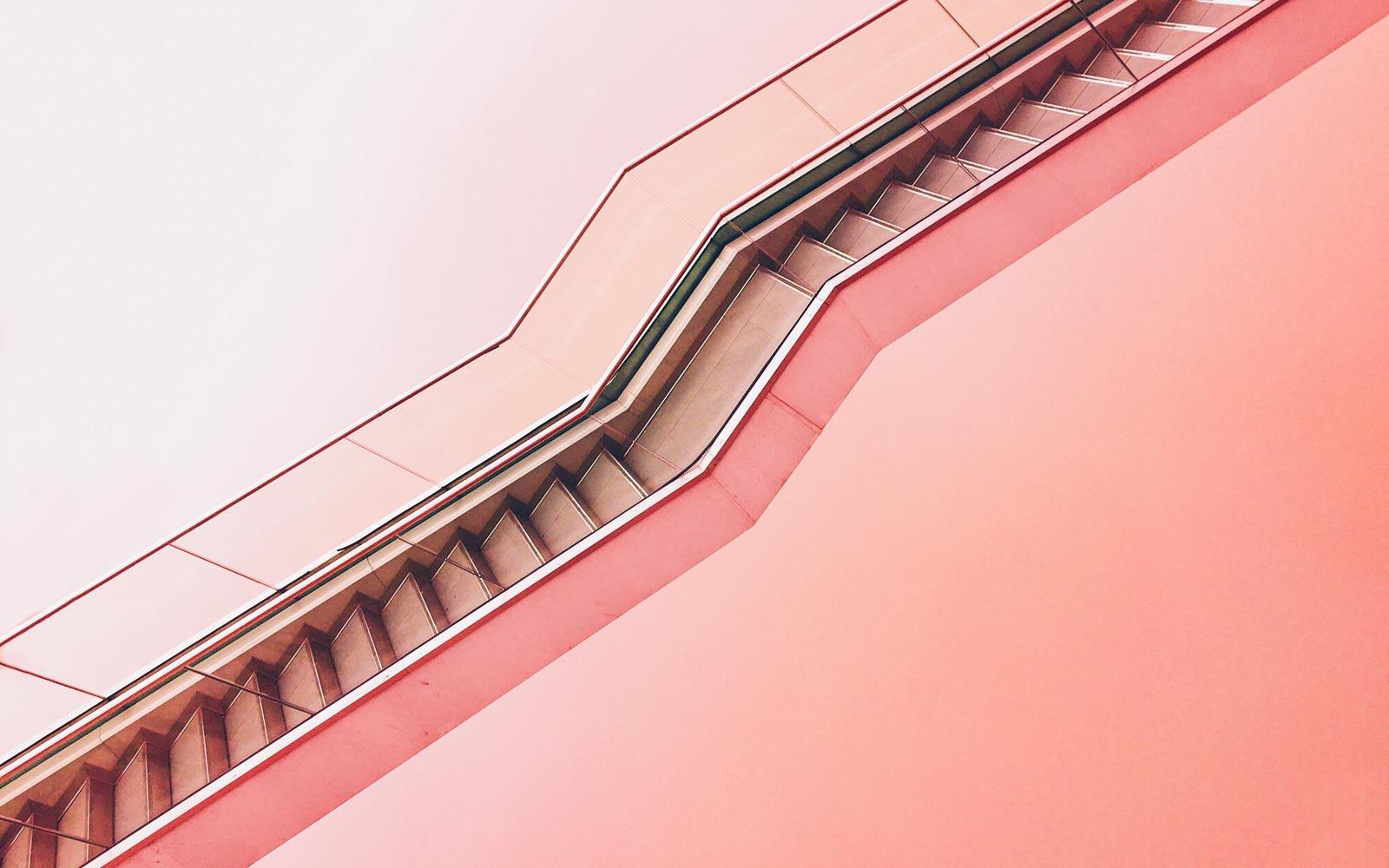 Stylish photo of an escalator