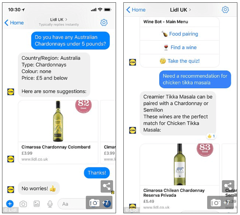 chatbot example from manychat messenger marketing strategy
