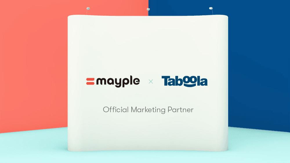 mayple and taboola official marketing partner