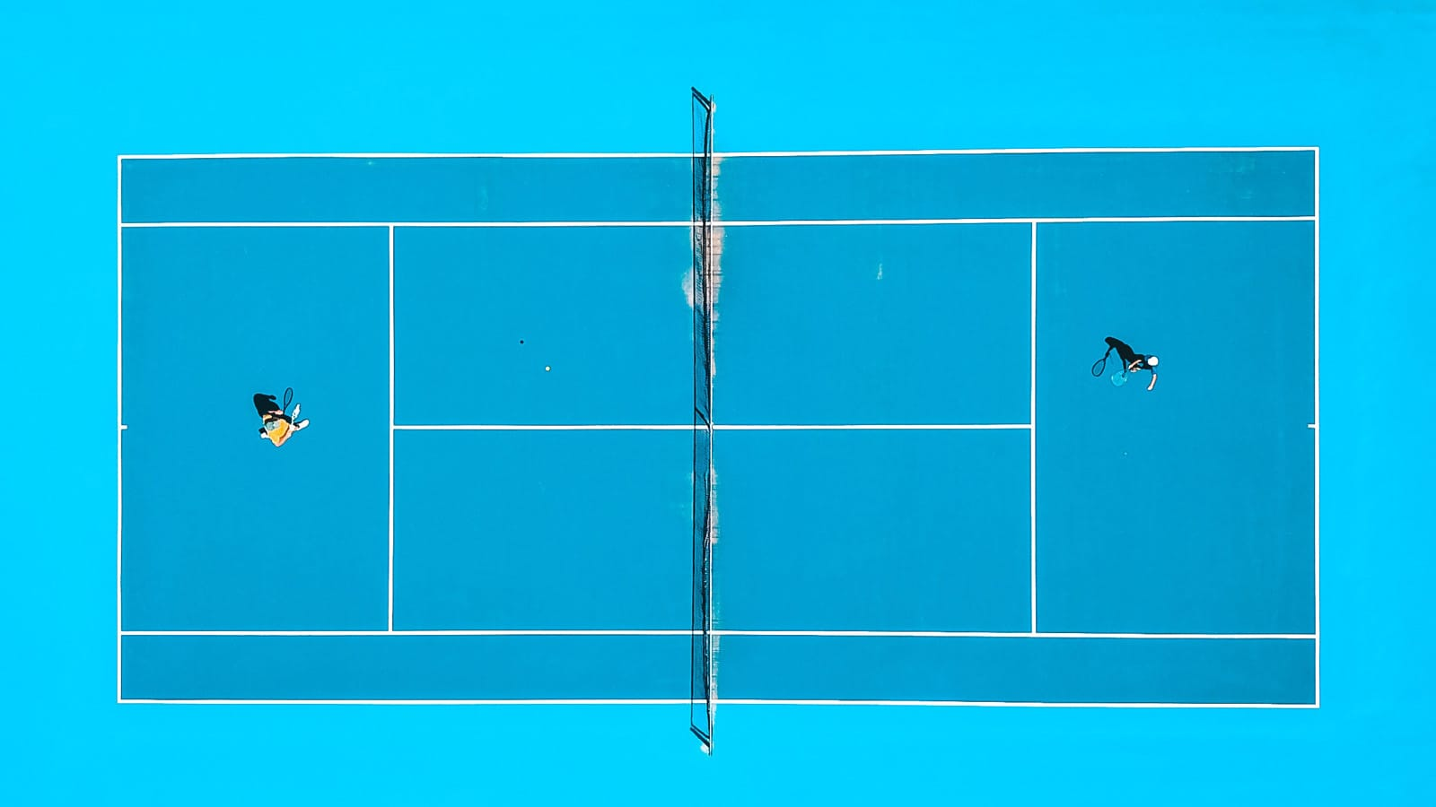 Tennis playfield from above