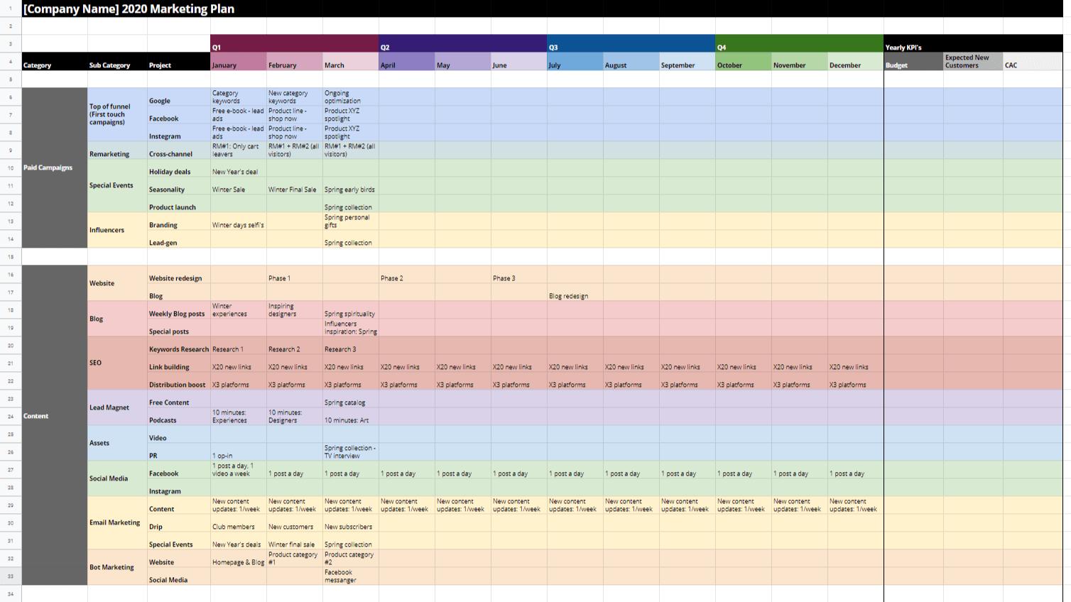 Mayple's Marketing Plan Template [2021]