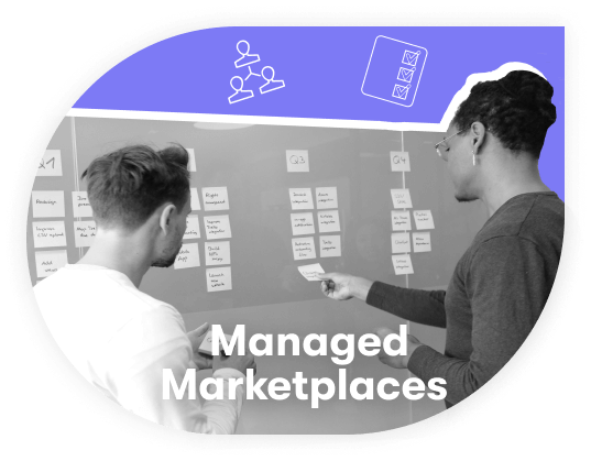 Managed marketplace for services