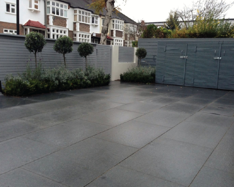 stamped-and-stained-concrete-dark-gray-running-bond
