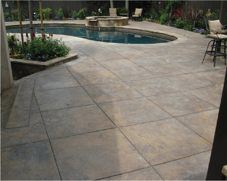 stamped-and-stained-concrete-gray-and-outback-square-tile