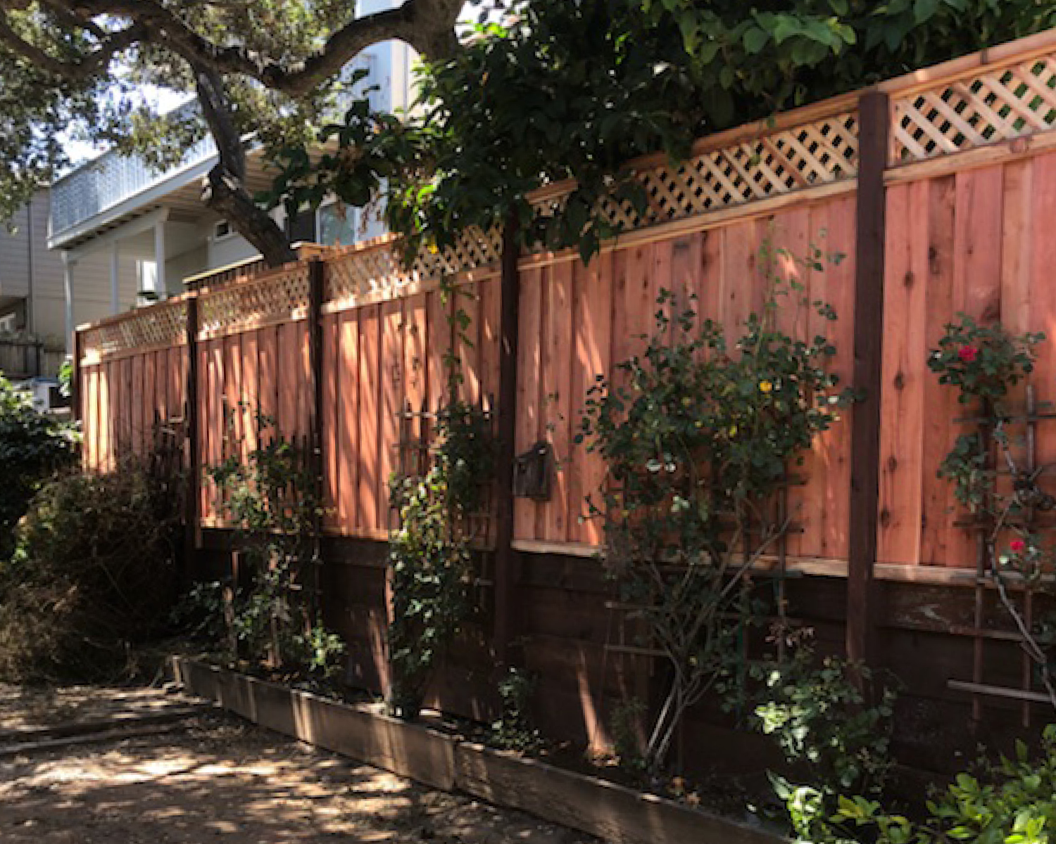 belmont-ca-picture-frame-board-on-board-with-diagonal-lattice-and-an-integrated-3-retaining-wall