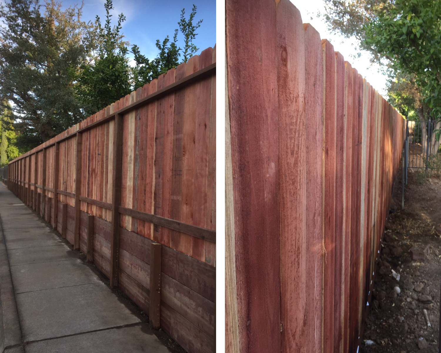 roseville-ca-nail-up-side-by-side-dog-ear-with-an-integrated-3-retaining-wall