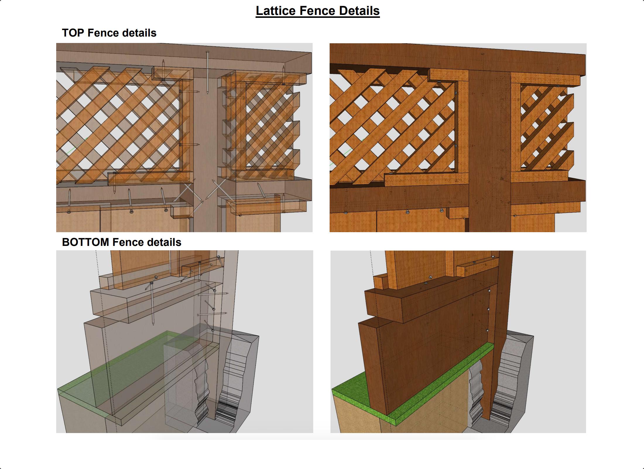 Lattice fence details