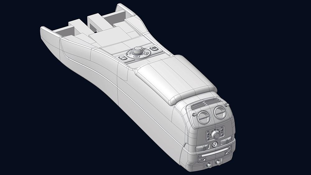 Designmodell Mittelkonsole