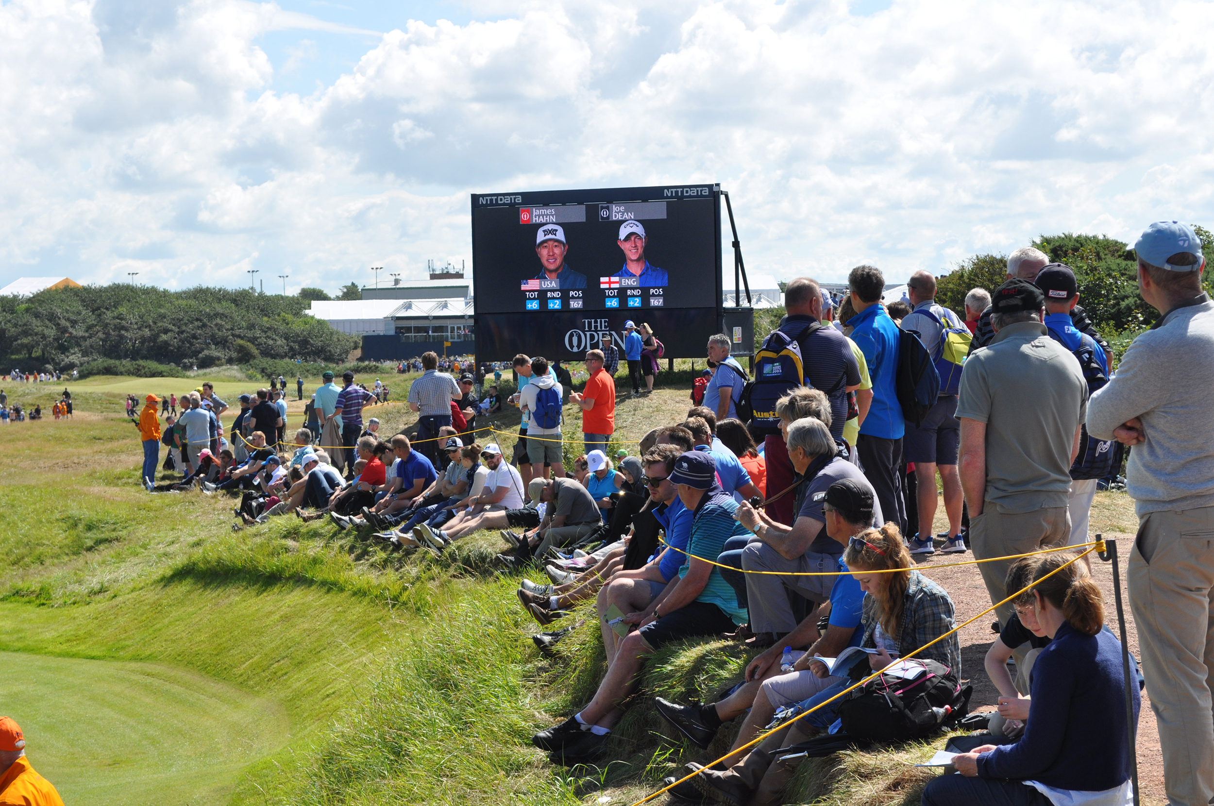 LED boards and graphic displays at The Open