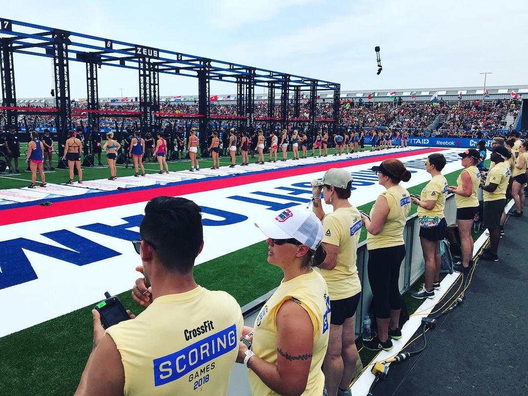 CrossFit competitors lined up and ready to compete at the championships