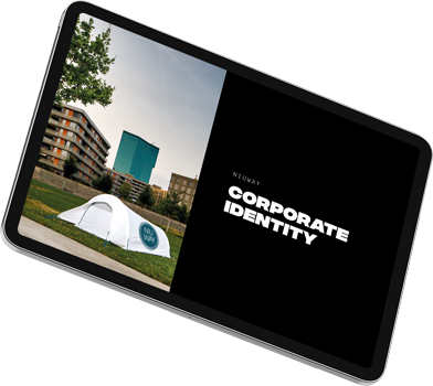 Titelseite des Corporate-Identity-Dossiers von ESE Media für niuway