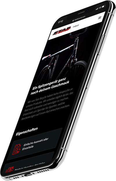 die Website von Star Bicycle