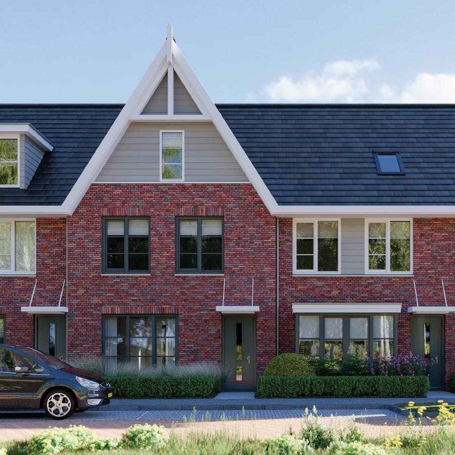 Met karakteristieke, stijlvolle topgevel die voor extra ruimte op de bovenste verdieping zorgt.