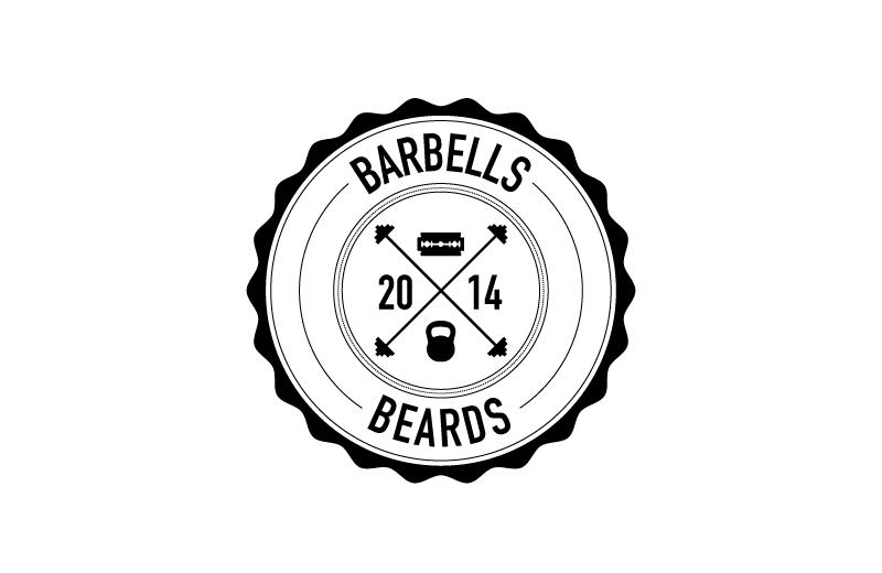 Barbells and Beards logo