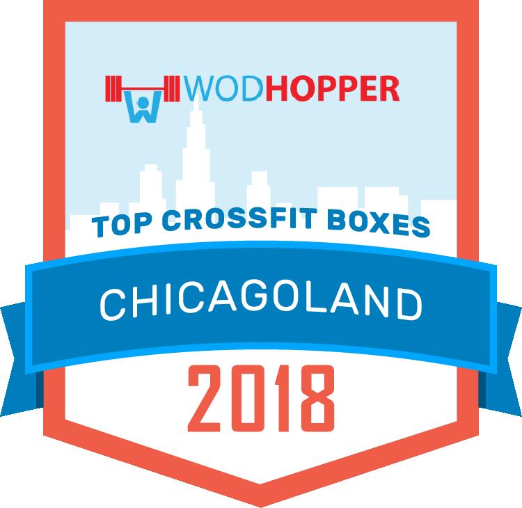 WODHOPPER Best CrossFit Boxes Chicago 2018 Badge