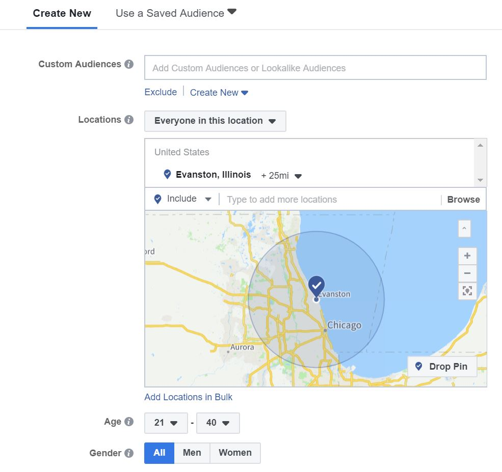 facebook ad location