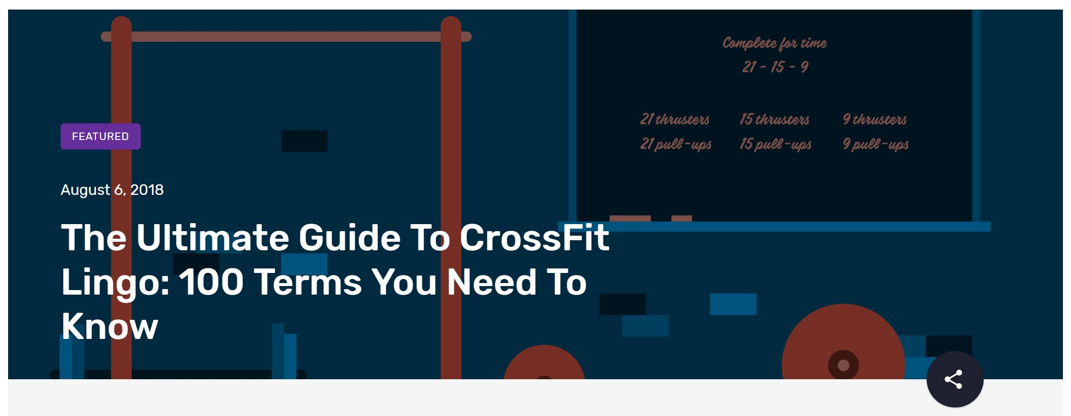 crossfit blog example