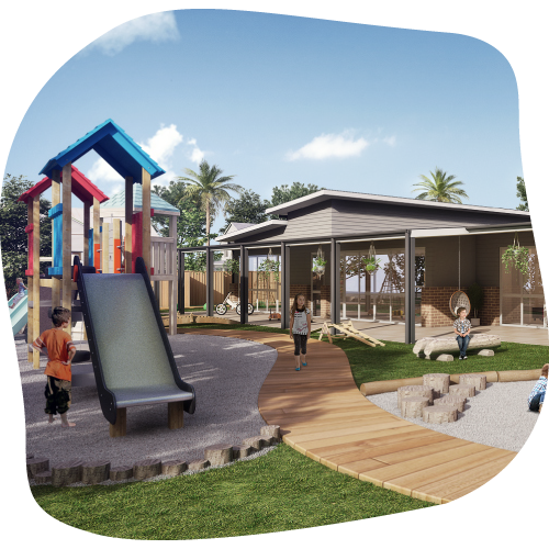 A Fully equipped playground at Sanctuary early learning centre in Mermaid Waters