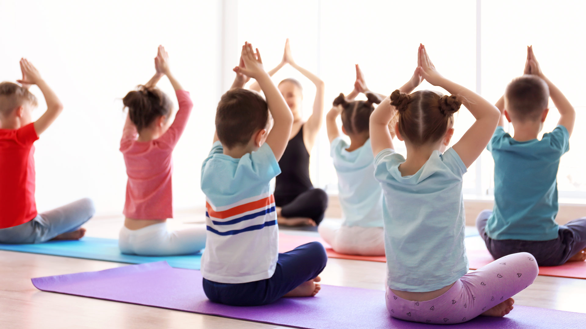 Class of Kids doing Yoga
