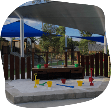 Sanctuary Ashmore outdoors playground, Junior Kindy and Toddlers yard