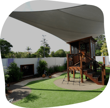 The outdoors Senior Kindy and Pre-School Yard at Sanctuary Mermaid Waters