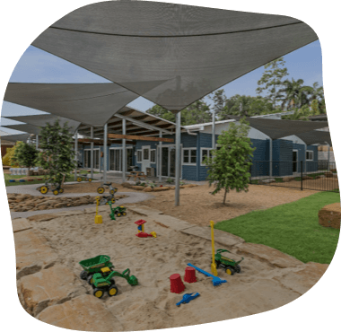 A picture of the Senior Kindy and Pre-School Yard at Sanctuary Buderim centre
