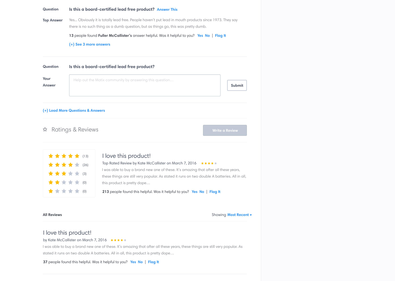 Matix Reviews