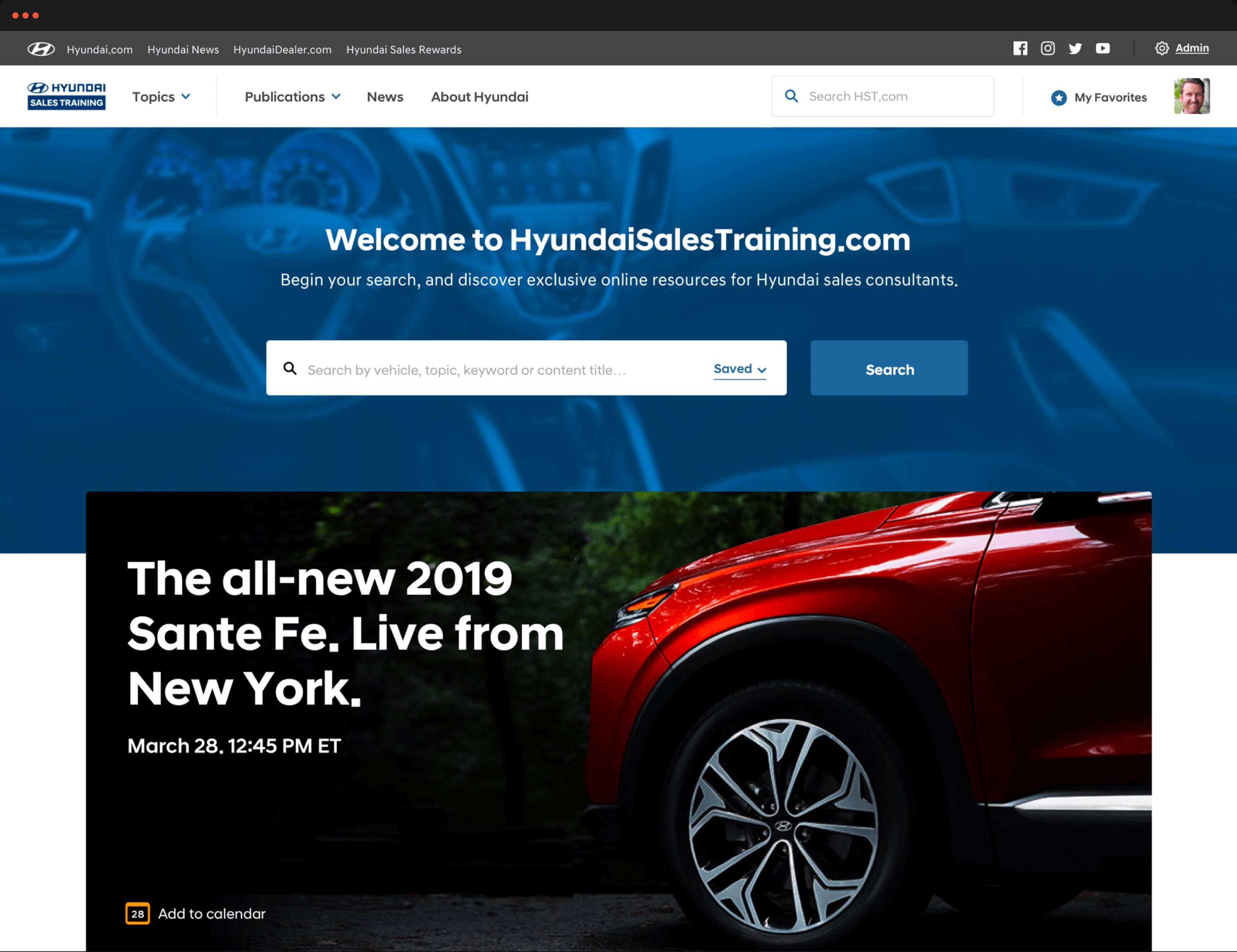 Hyundai Sales Training Search Feature
