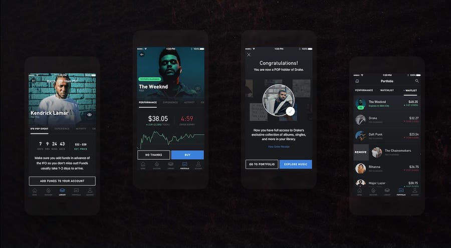 mobile app for the music industry