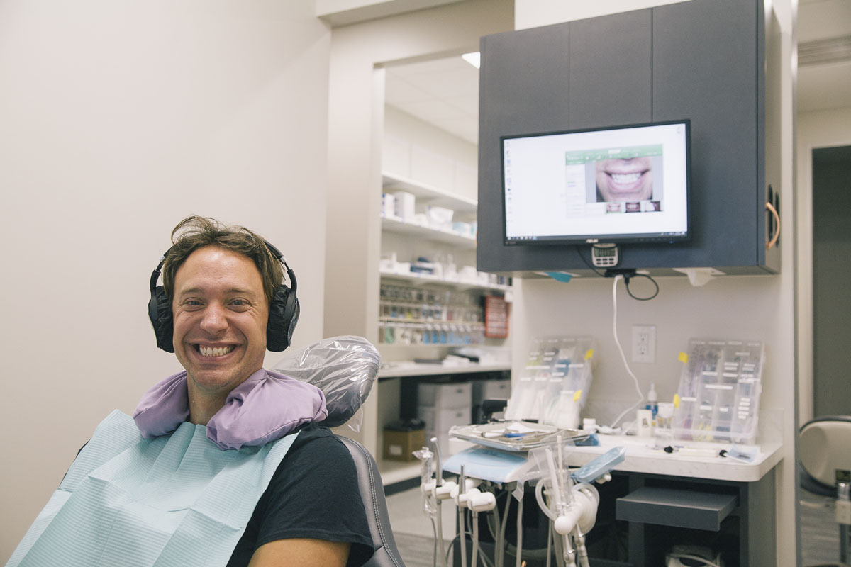 """A man at our family dentistry in Tomball, TX"