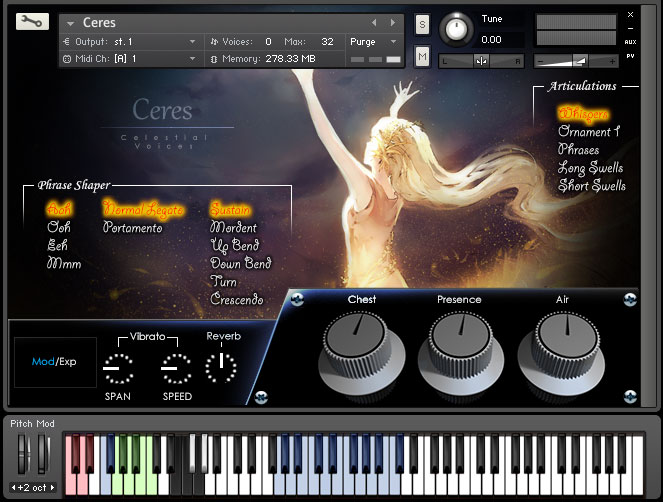 Ceres- Vocal Sample Library for Kontakt 4 and above VST AAX