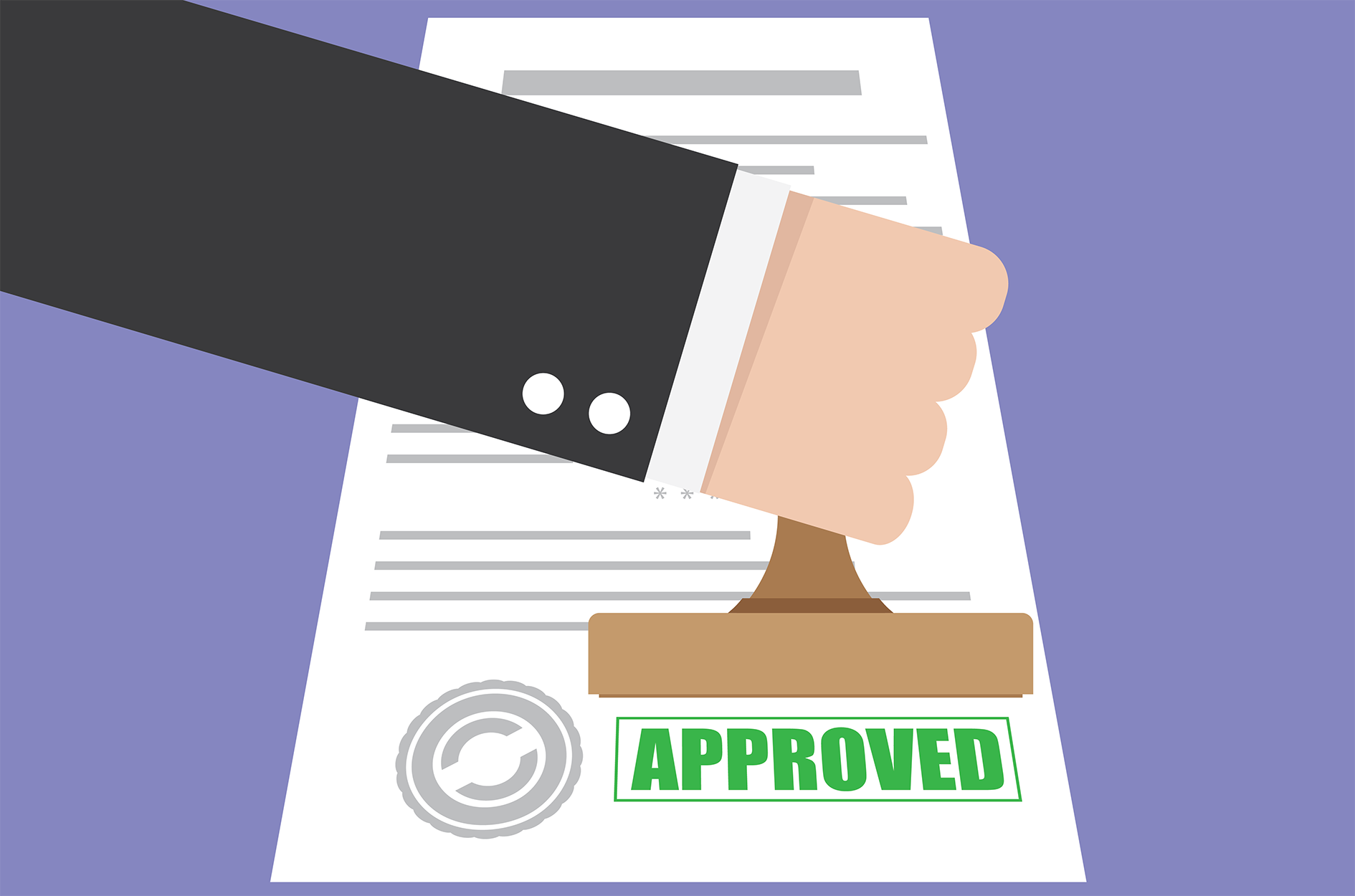 Approval Vector Image