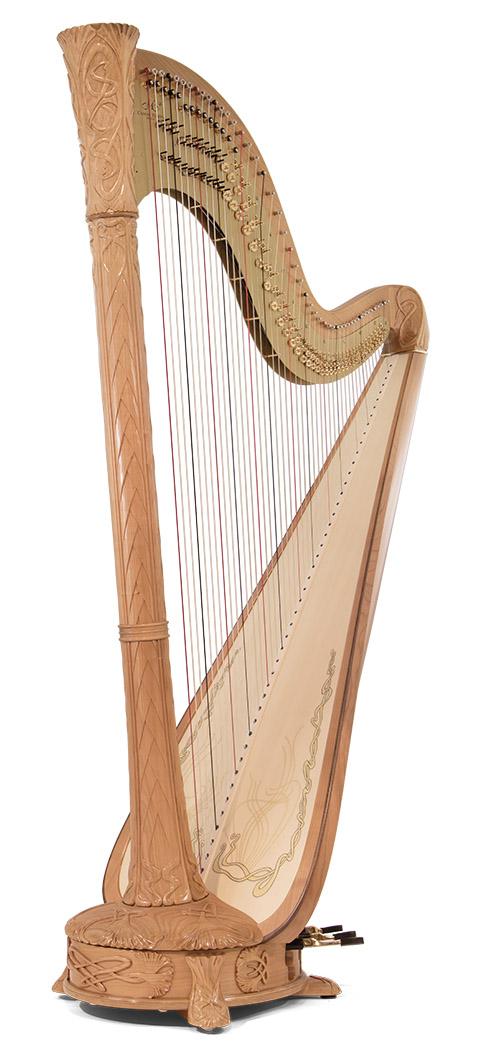Art Nouveau pedal harp