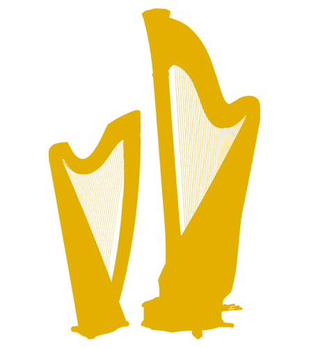 Lever and pedal harp icon