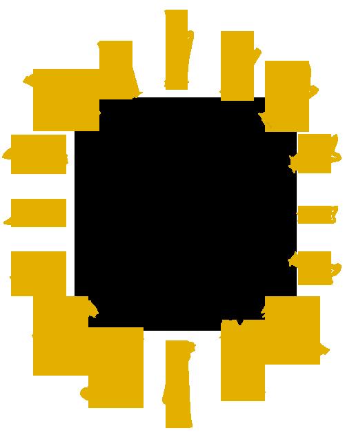 Sun made of harps