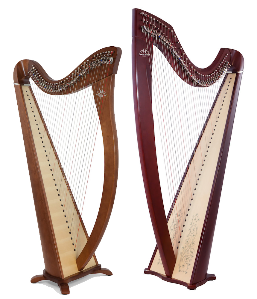 Two harps