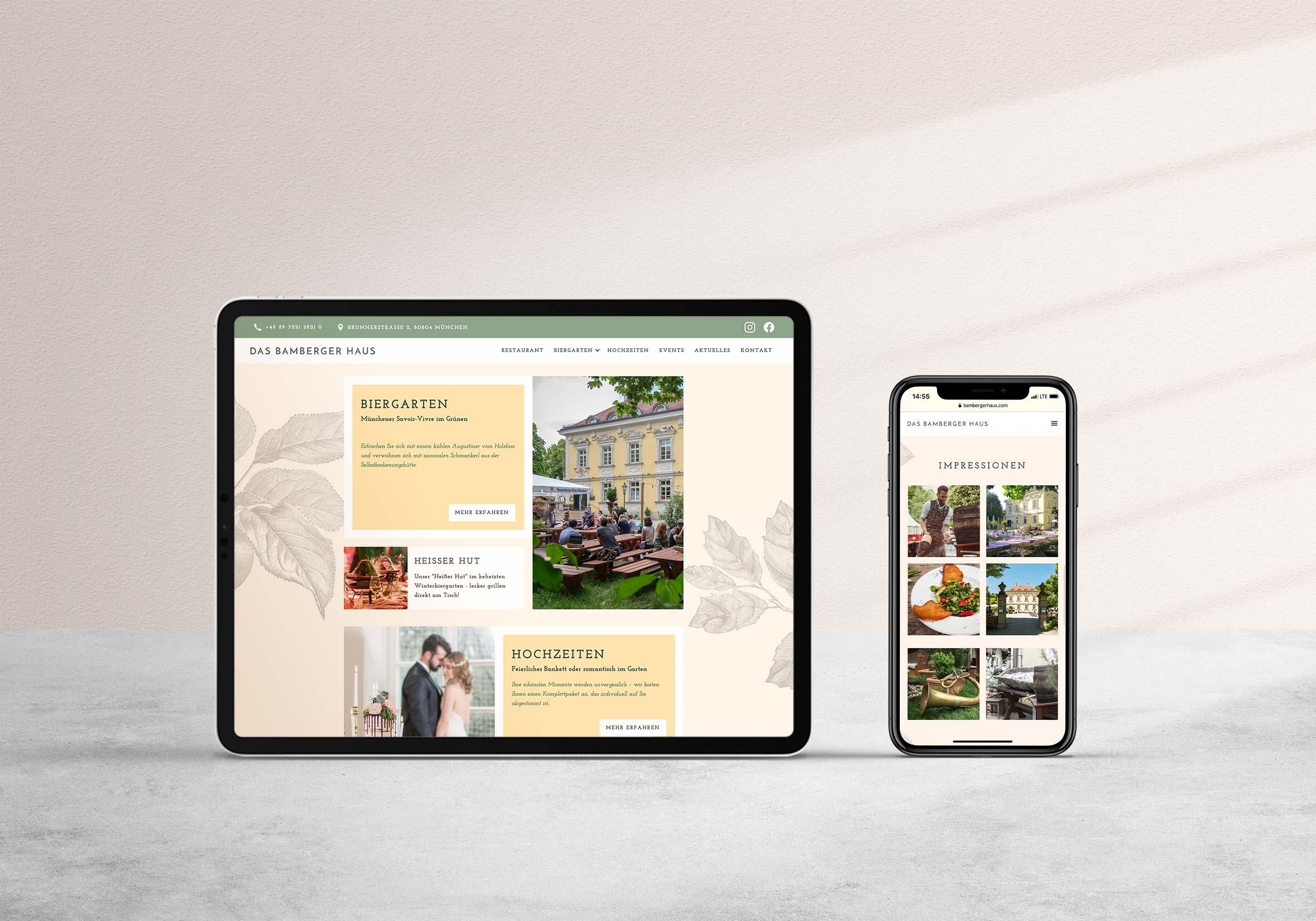 Bamberger Haus Website Development