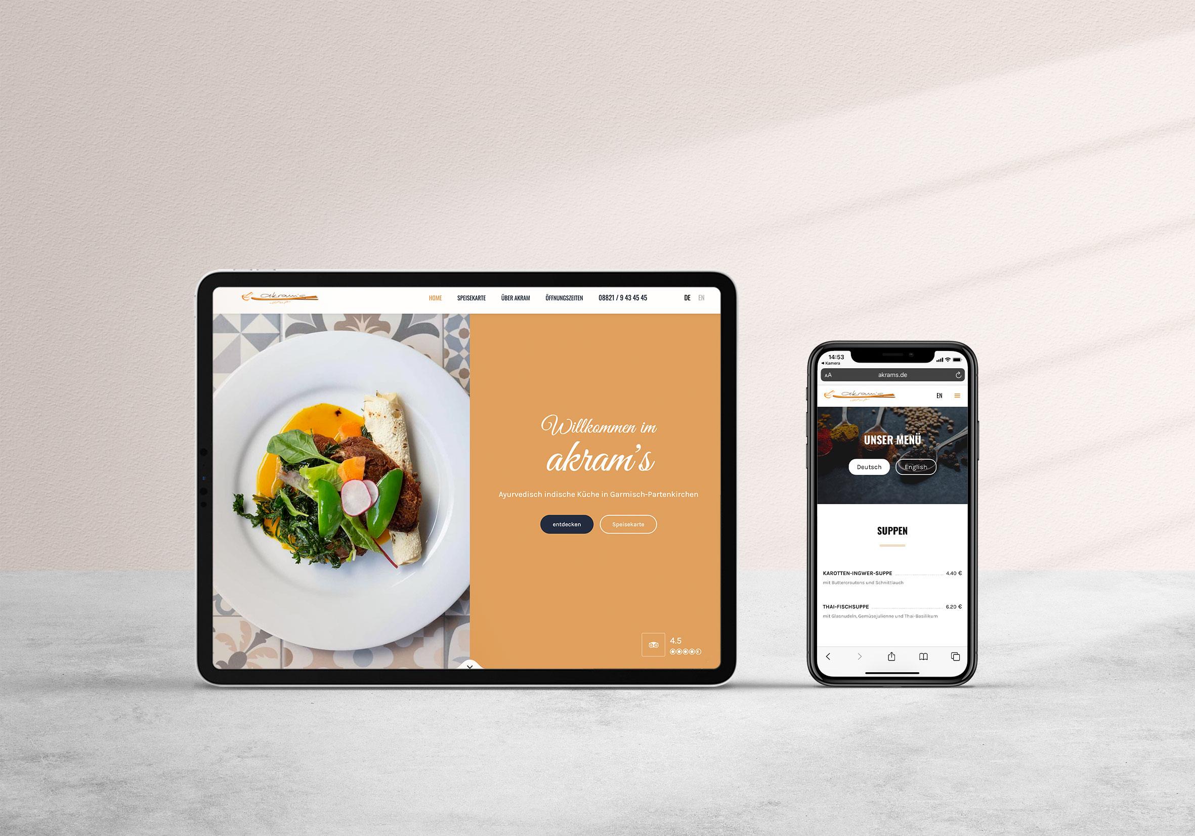 Akram's Restaurant Website